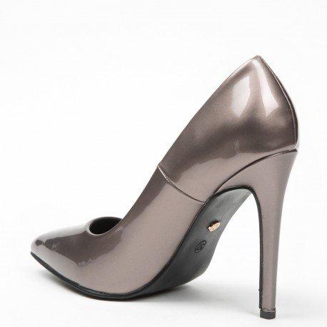Ideal Shoes - Escarpins vernis Hania Bronze