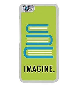 Imagine 2D Hard Polycarbonate Designer Back Case Cover for Micromax Canvas Fire 4 A107