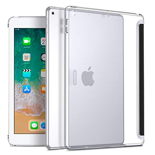 ESR Hülle für iPad 9.7 2018/2017, Transparent Hart Rück Silikon Schutzhülle Slim Fit Rücken Shell Cover Case für iPad 2018/2017 9.7 Zoll (Klar) Klar Shell