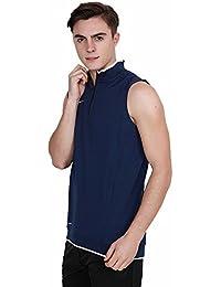 Nike Men Blue Sleeveless 100% Polyester TS CRKT HITMARK FLCE VEST (Size- Medium)