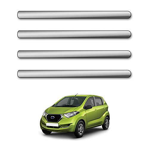 Motor Duniya Car Safety Bumper Guard Protector Mirror Chrome for Datsun Redi Go