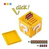 Gioco di carta per Nintendo interruttore, Aolvo 12-in-1simpatico gioco della soluzione di storage box Compact organizzatore può contenere fino a 8NS carte da gioco e 4schede micro SD, giallo