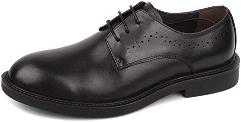 Hombre Clásico Zapatos De Cuero Formal Zapatos De Encaje De Negocios Hombre Negro Marrón Redondo Zapatos De Cuero... -