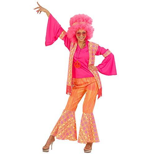 Widmann 5709W Erwachsenenkostüm Hippiefrau, Bluse, Weste, Hose und Stirnband, XL (Hippie-halloween-kostüm)