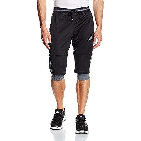 Adidas Pantalones de deporte para adulto 3/4, primavera/verano, hombre, color Black/Vista Grey, tamaño M