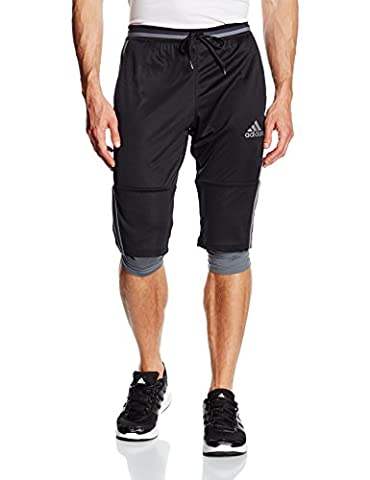 adidas Men's Condivo 16 Three-Quarter Pants - Black/Vista Grey, Medium