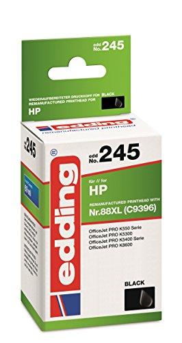 Edding 18-245 EDD-245 - Cartucho de tinta individual (sustituye al modelo HP 88XL C9396), color negro