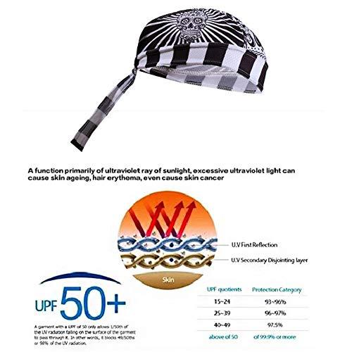 hweißfest Sonnencreme Kopfbedeckungen Bike Team Scarf Fahrrad Outdoor Atmungsaktives Stirnband Schnell Trocknendes Bandana Piratenstirnband Reithaube Sports Hut ()