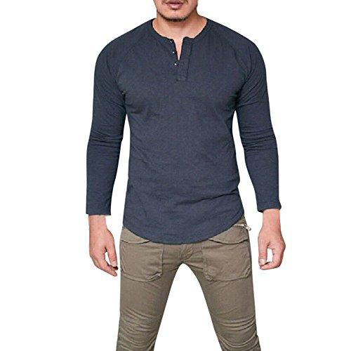 Vovotrade uomo estate casual lino e cotone manica corta v-collo maglietta superiore camicetta tee uomo palestra t-shirt slim fitness lo sport casual maglietta 2018