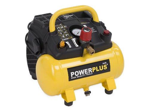 Preisvergleich Produktbild Powerplus kraftvoller Druckluft Kompressor 1.100 Watt Leistung, 1,5 PS, 6 Liter Tank - Art. Nr. POWX1721