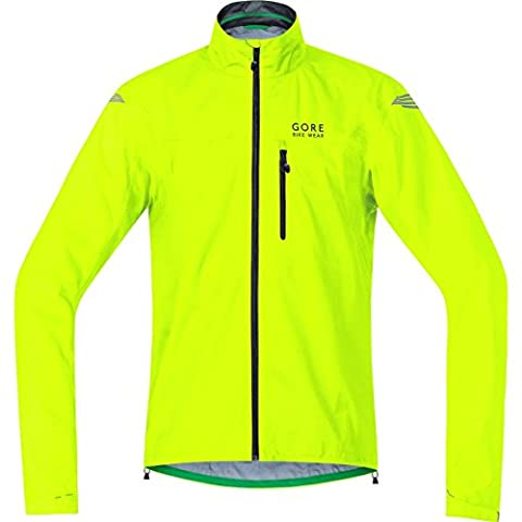 GORE BIKE WEAR Herren Regen-Fahrradjacke, Super Leicht, GORE-TEX Active, ELEMENT GT AS Jacket, Größe: L, Gelb, JGELEA