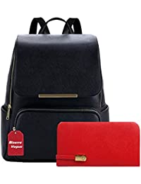 Bizarre Vogue Stylish College Bags Backpacks & Clutch Combo For Women & Girls