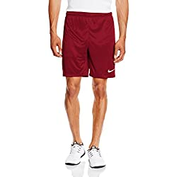 Nike Park II Knit Short NB Pantalón corto, Hombre, Rojo/Blanco (Team Red/White), XL