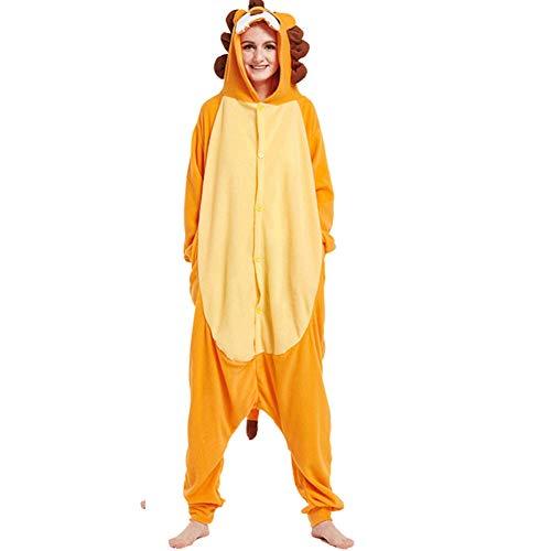 Onesies Cosplay Pyjamas Bekleidung Animal Erwachsene Unisex Schlafanzüge Karneval Jumpsuits Anime Carnival Löwe Spielanzug Kostüme Weihnachten Halloween Nachtwäsche Damen