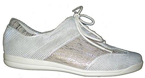 Waldläufer 343003-302-586 Horta Damen Sneaker weiß/stein/silber