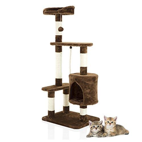 Cozy Pet Deluxe - Rascador de árbol de gato multinivel con centro de