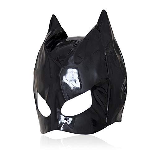 Sexy Für Erwachsene Katze Kostüm - Fetische Kopfbedeckung sexy SM-Haube Kopfhemme Bondage Bondage Rückenlehne erwachsene Batman Katze Kostüm Sex-Pay-Spielzeug für Frauen Männer schwulen Cosplay