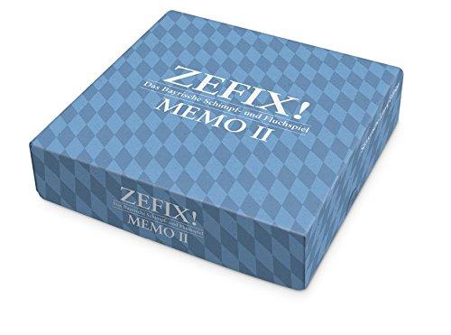Zefix! 3864972065 - Memo II (2) Format, Legespiel, blau