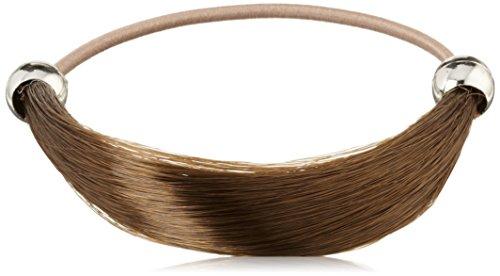 Solida kunsthaarzopfabbinder Marie, classique lisse, diamètre Env. 6.00 cm, couleur 4 Marron clair, Lot de 2 (2 x 1)