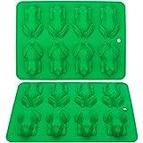 Webake Lot de 2 moules à chocolat en silicone anti-adhésif réutilisables pour gelée, crayons, gélatine, décoration de gâteau,