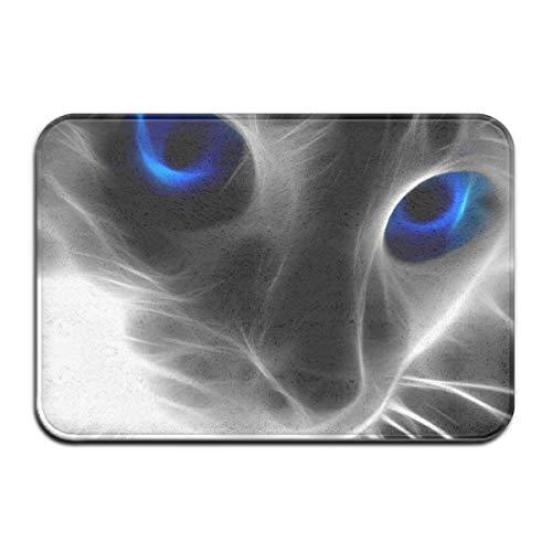 artyly Graue Katze Blaue Augen Deco-mat Fußmatte, Fussmatte Innen, rutschfest, Waschbar - Schmutzfangmatte - Fussabtreter - Türmatte 50 x 80 cm