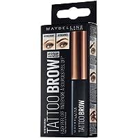Maybelline Brow Tattoo Gel Tinte para Cejas Castañas, Tono Medium 2 - 4.6g