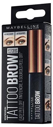 Maybelline Tattoo Brow Augenbrauenfarbe Nr. 2 Medium braun, trendige Augenbrauenfarbe mit bis zu 3...