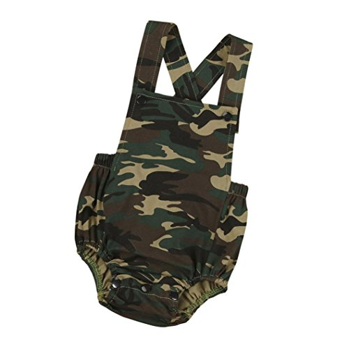 Baby Rompers, Bestow Newborn Infant Romper Baby Kids Boys Girls Camouflage Sleeveless Romper Bodysuit Jumpsuit Outfit Clothes (0-6Months)