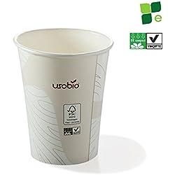 Vasos de cartón desechables y compostables, 50 uds, 240 ml