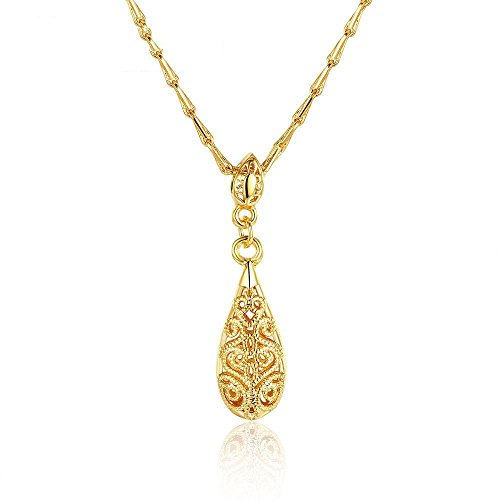 Luziang Halskette Mode-Europa und die Vereinigten Staaten Retro-Muster Anhänger Farbe sturzschutz vergoldete Halskette