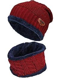 Cotouke Invernale Berretti e Sciarpe con Fodera in Pile per Bambini 002aca3e6abc