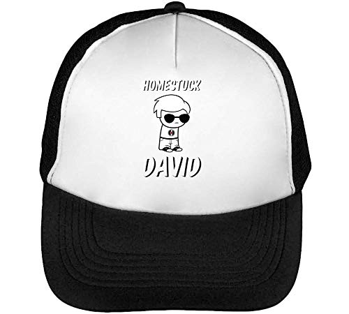 30aa09aeb Homestuck David Gorras Hombre Snapback Beisbol Negro Blanco One Size