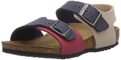 Birkenstock Kids NEW YORK, Unisex-Kinder Knöchelriemchen Sandalen, Blau (COLOUR MIX NAVY), 26 EU