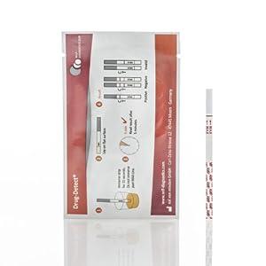 Drogentest Cannabis (Mariuhana/Haschisch/THC) -Schnelltest Drug-Detect – 10 Teststreifen (Cut-off: 50 ng/ml)