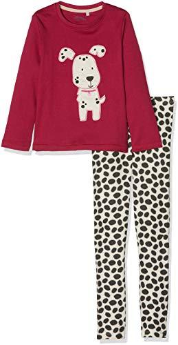Sigikid Mädchen Pyjama, Mini Zweiteiliger Schlafanzug, Mehrfarbig (Sangria 166), 98