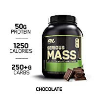 OPTIMUM NUTRITION Serious Mass Weight Gainer Protein Powder, Chocolate, 2.72 kg, 6 LB