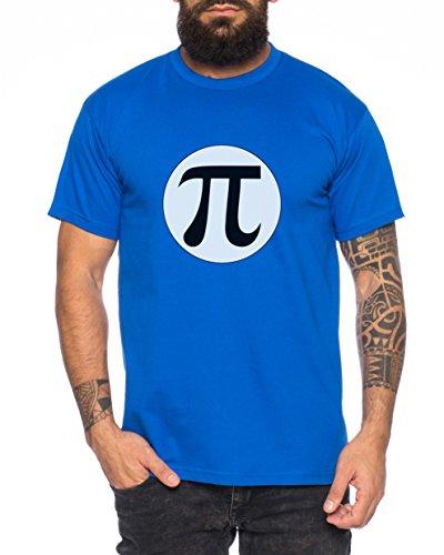 Pi Logo Nerd Herren T-Shirt in verschiedenen Farben Royal