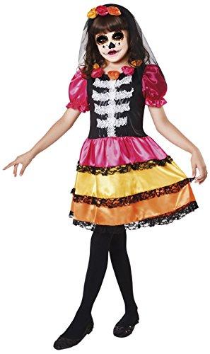 My Other Me Me-203175 Disfraz Catrina esqueleto para niña, 7-9 años (Viving Costumes 203175