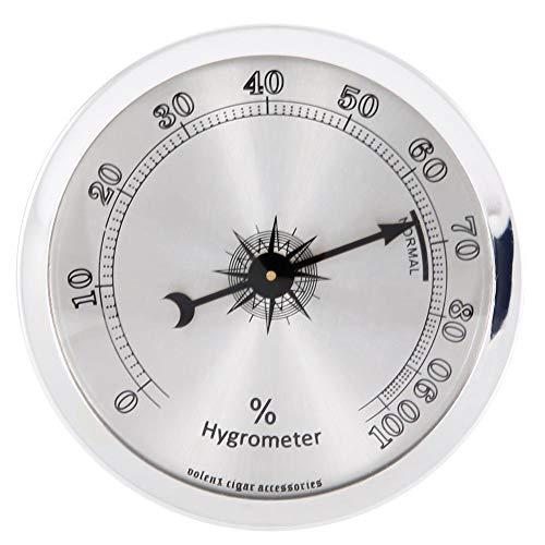 Mootea Mini-Rund-Hygrometer Genaues, professionelles Hygrometer für Zigarren-Humidor-Kofferzubehör