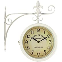 50569e5f6ca3 RD Reloj de Pared Grand Central Terminal New York Estacion Forja Blanco