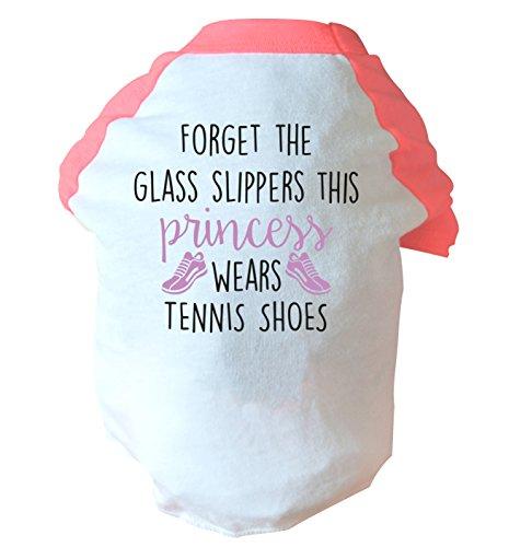 Flox Creative Vergessen das Glas Hausschuhe This Princess Wears Tennis Schuhe zwei straffen Hund Weste Rosa oder Blau Gr. Medium, rose - Rosa Tennisschuhe