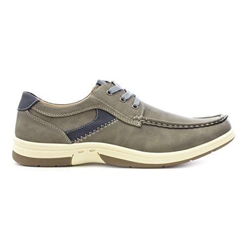 Dr Keller Mens Grey Lace Up Casual Shoe Gris