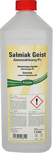 1 Liter Kluthe Salmiak Geist Ammoniaklösung 9% Entfetter Reiniger Salmiak Geist