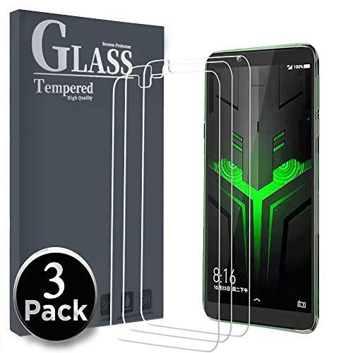 Ferilinso für Xiaomi Black Shark Helo Panzerglas Schutzfolie, [3 Pack] Gehärtetes Glas Displayschutzfolie mit Lebenszeit Ersatzgarantie für Xiaomi Black Shark Helo (Transparent)