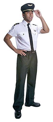 Dress up America Realistisch aussehendes Erwachsenen-Pilotenkostümset - Größe (Kostüme Kleinkind Aviator)