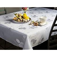 Fleckenresistente Tischtücher Fleckschutz abwaschbar Ostern 2 Weiß Tischdecke