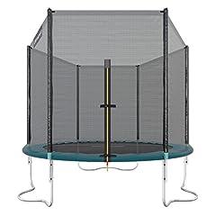 Idea Regalo - Ultrasport Trampolino da Giardino Jumper, Inclusa Rete di Sicurezza, Verde, 251 cm
