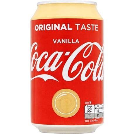 72 x Coca Cola Vanilla cans dosen canettes latas lattine 0 33 L