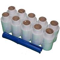 10rollos de 100M x 150m transparente Mini mano palet Film elástico Wrap shrink práctico dispensador