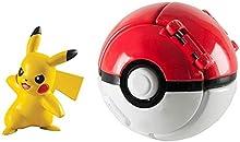 su ma Poké Ball, Pokémon Poké Ball Pokeball Pokemon Mini Figurines pour Enfants et Adultes Party Celebration Fun Toy Game Gift (Pikachu)